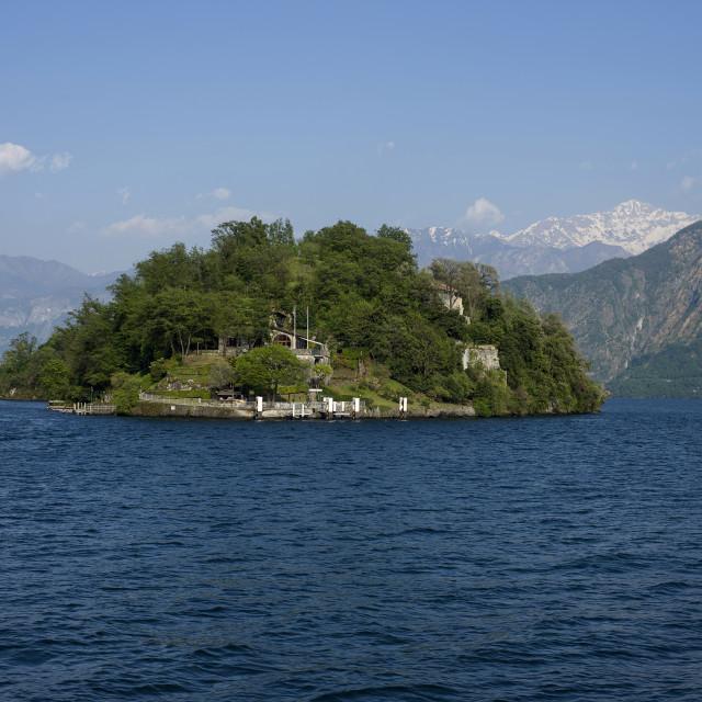 """Lake Como,Isola Comacina"" stock image"