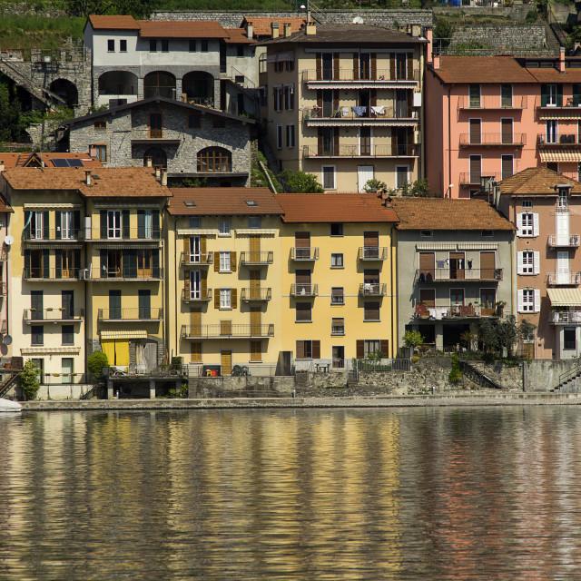 """""""Lake Como,Sala Comacina"""" stock image"""