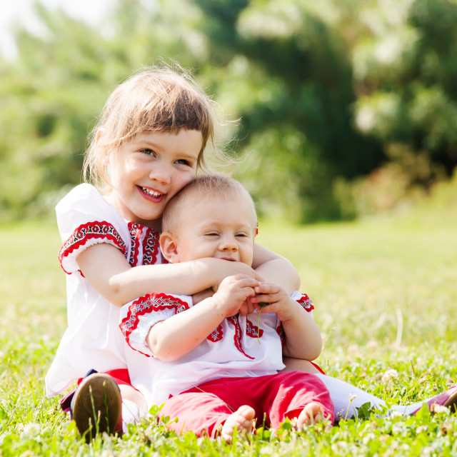 """""""children in folk clothes"""" stock image"""