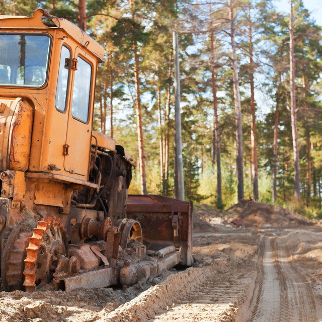 """""""Tractor in the forest"""" stock image"""