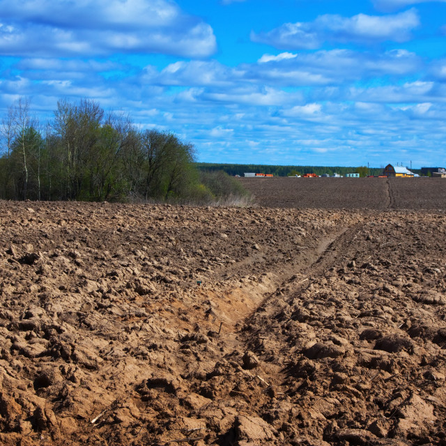 """Plowing field"" stock image"