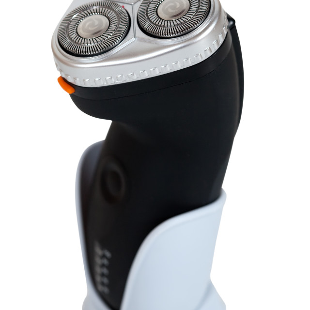 """""""Electric shaver. Isolated over white"""" stock image"""