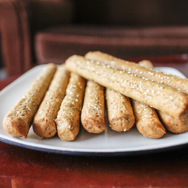 """Lebanese bread sticks"" stock image"