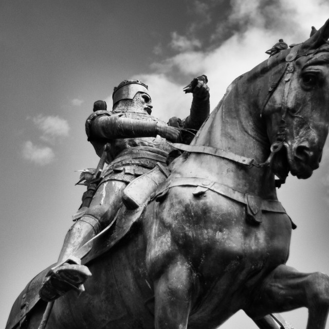 """""""knight on a horse"""" stock image"""