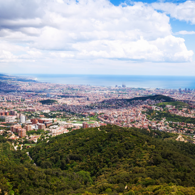 """""""view of Outskirt districts in Barcelona"""" stock image"""