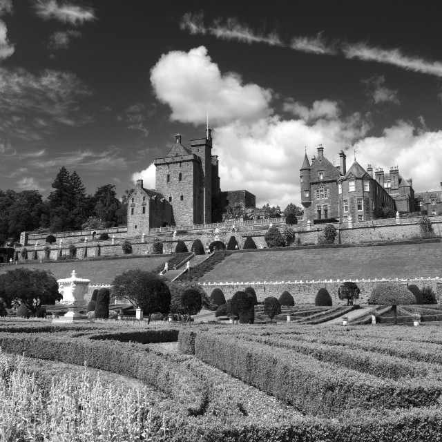 """Drummond Castle"" stock image"