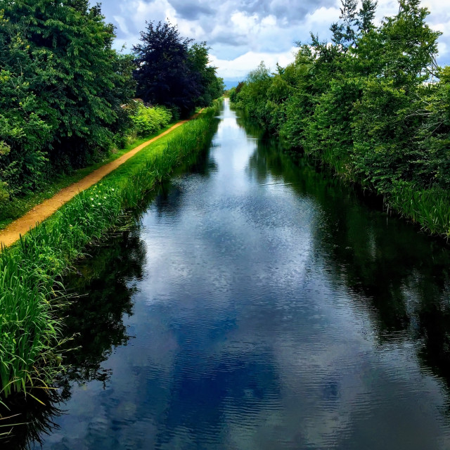 """Grand Union Canal"" stock image"