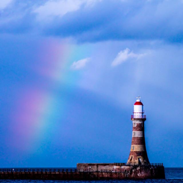 """Rainbow Lighthouse"" stock image"