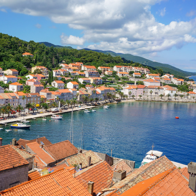 """Korcula island in Croatia, Europe. Summer destination"" stock image"