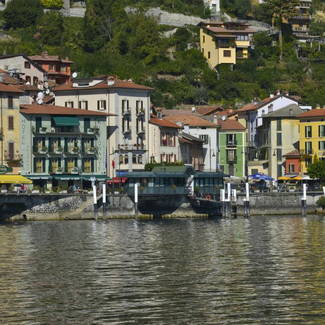 """""""Lake Como, Argegno"""" stock image"""