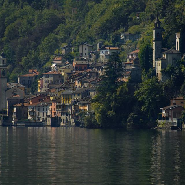 """""""Lake Como, Brienno"""" stock image"""