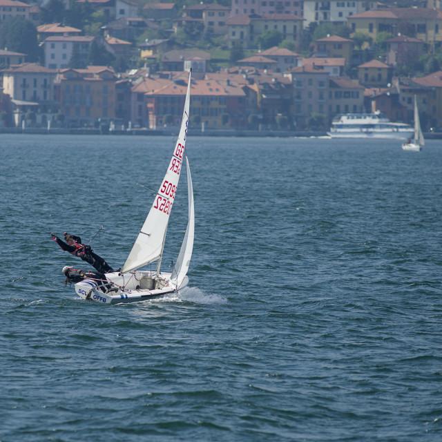 """Lake Como, sailing"" stock image"
