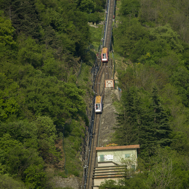 """Como, the funicolar railway"" stock image"