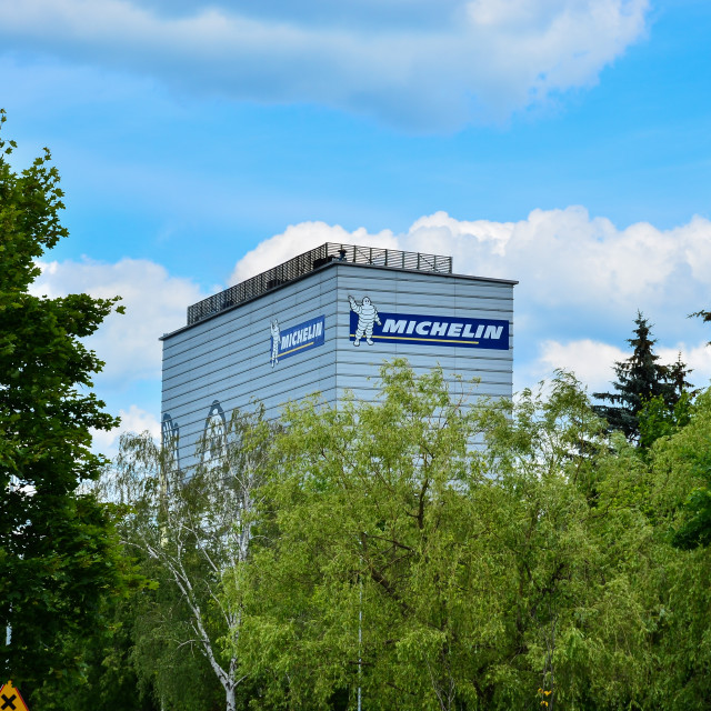 """Michelin building in Olsztyn"" stock image"