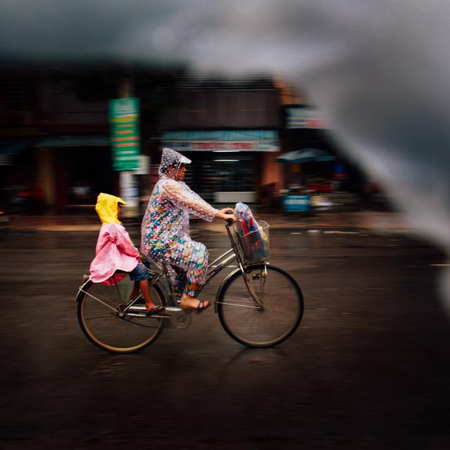 """Into the rain"" stock image"