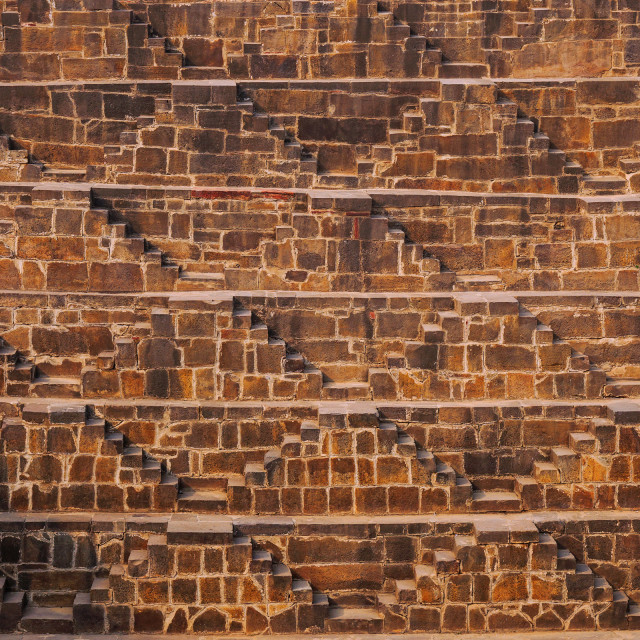 """Chand Baoli Step Well"" stock image"