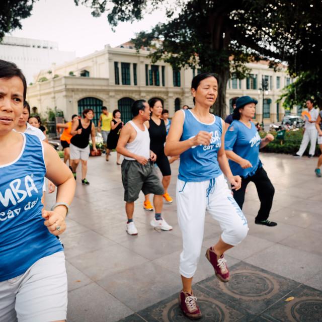 """Dancing in Hanoi"" stock image"