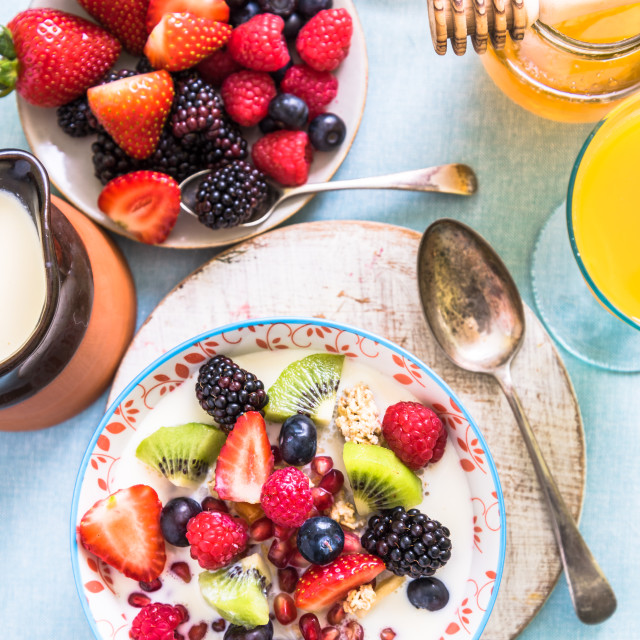 """""""ligh and fruity brunch"""" stock image"""
