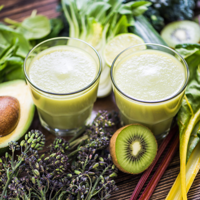 """antioxidant smoothie on table"" stock image"