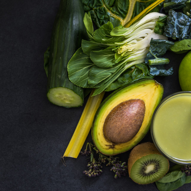 """making green detox smoothie"" stock image"