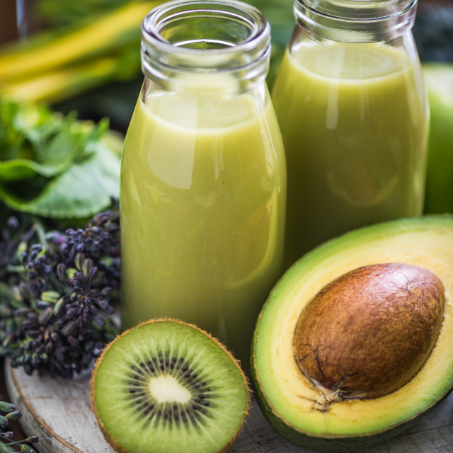 """avocado and kiwi smoothie"" stock image"