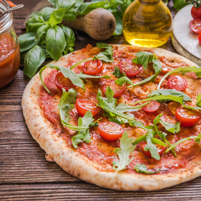"""healthy vegeterian pizza"" stock image"
