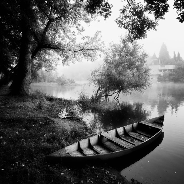 """""""Old Wooden Boat"""" stock image"""