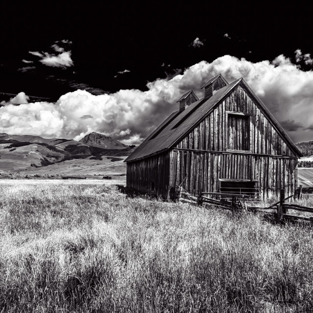 """Barn on the old Cold Creek Homestead"" stock image"
