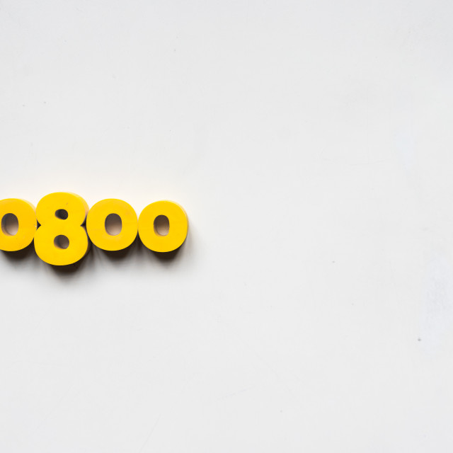 """yellow numbers"" stock image"
