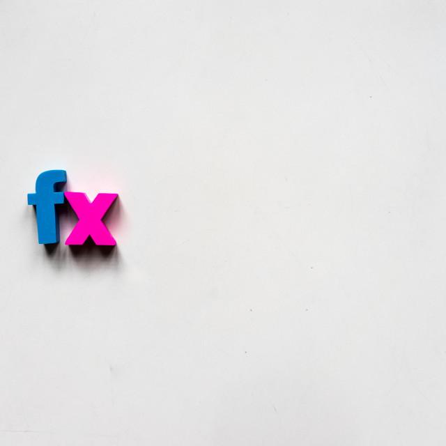 """""""fx"""" stock image"""