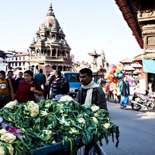 """Street Of Patan, Lalitpur"" stock image"