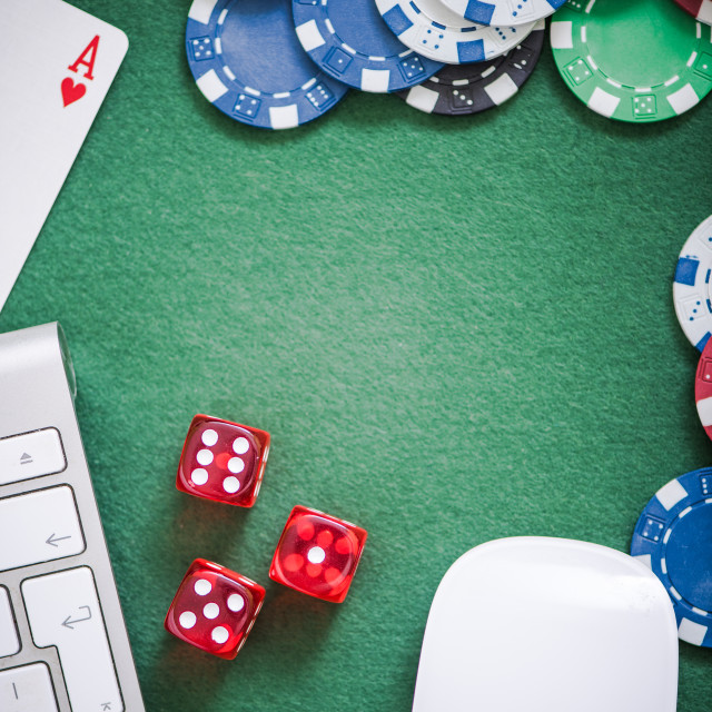 """online gambling in casino"" stock image"