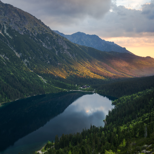 """""""early morning in high mountains"""" stock image"""