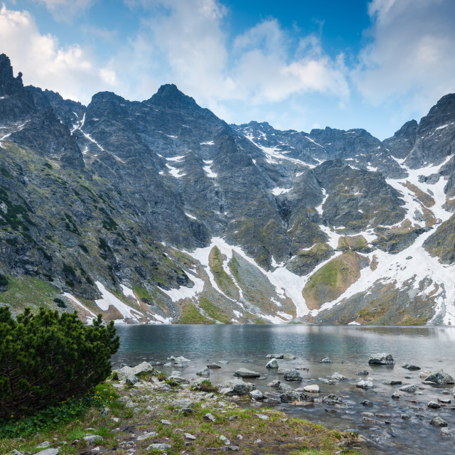 """""""Highest Polish peaks Rysy"""" stock image"""