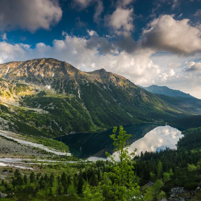 """""""Beautiful summer day at Polish Tatra Mountains"""" stock image"""