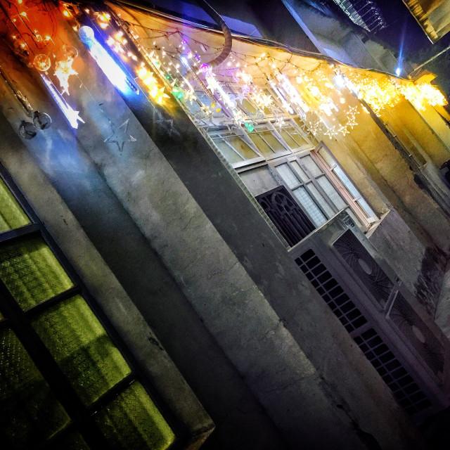 """star night street"" stock image"