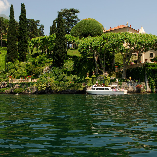 """Lake Como,Villa Balbianello"" stock image"