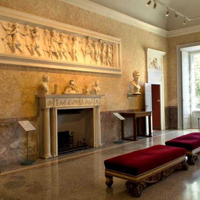 """Lake Como,Villa Carlotta, museum"" stock image"