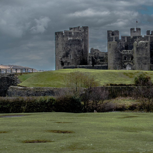 """Caerphilly Castle."" stock image"