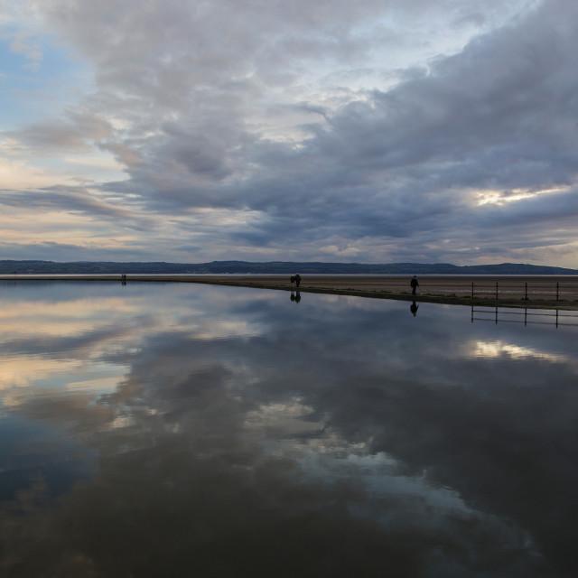 """""""West Kirby Marine Lake"""" stock image"""