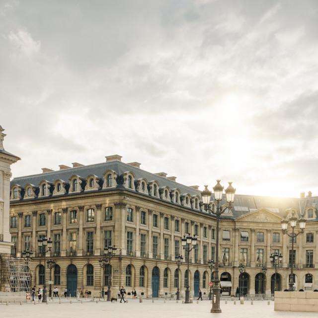 """""""Place Vendome, Paris"""" stock image"""