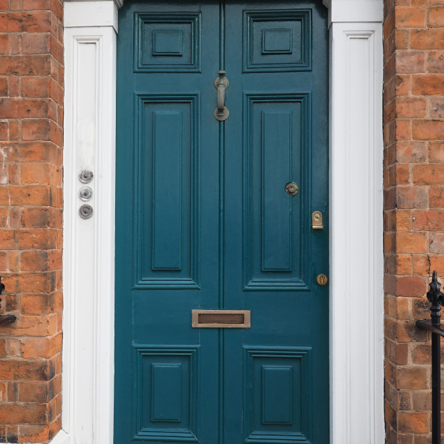 """Vintage British door"" stock image"