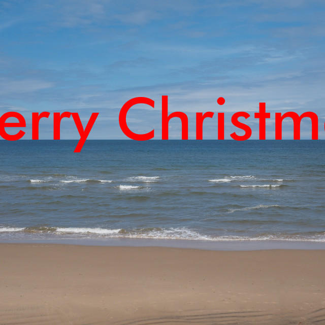 """Merry Christmas on the beach"" stock image"