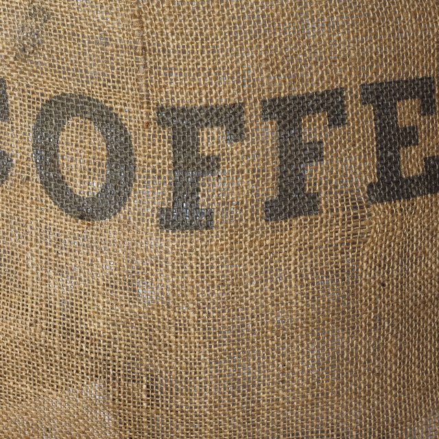 """Roasted coffee sack"" stock image"