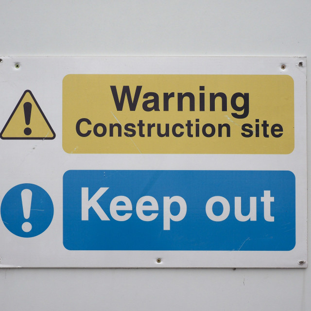 """Warning safety sign"" stock image"