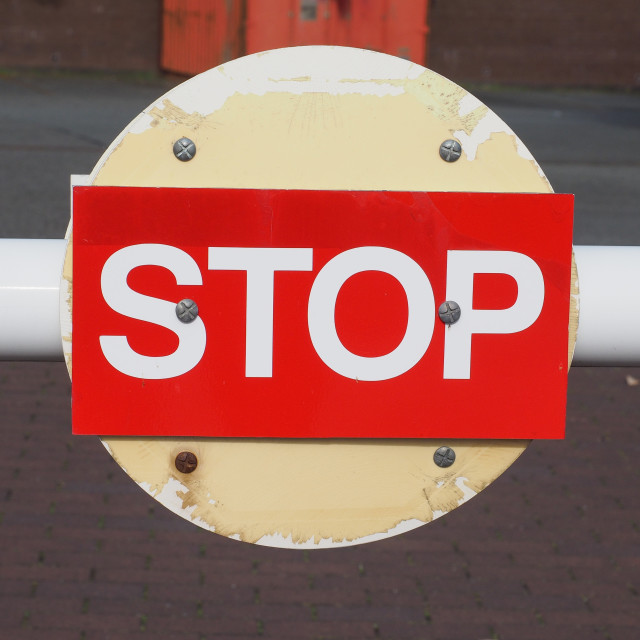 """Red stop sign"" stock image"