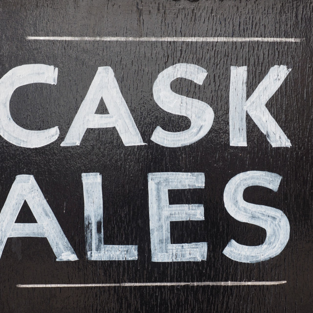 """Cask ales sign"" stock image"