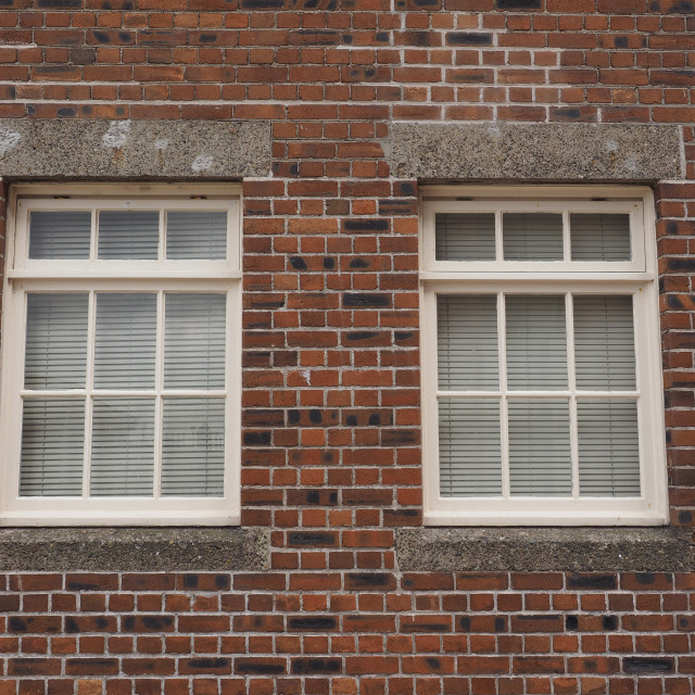 """Traditional British windows"" stock image"