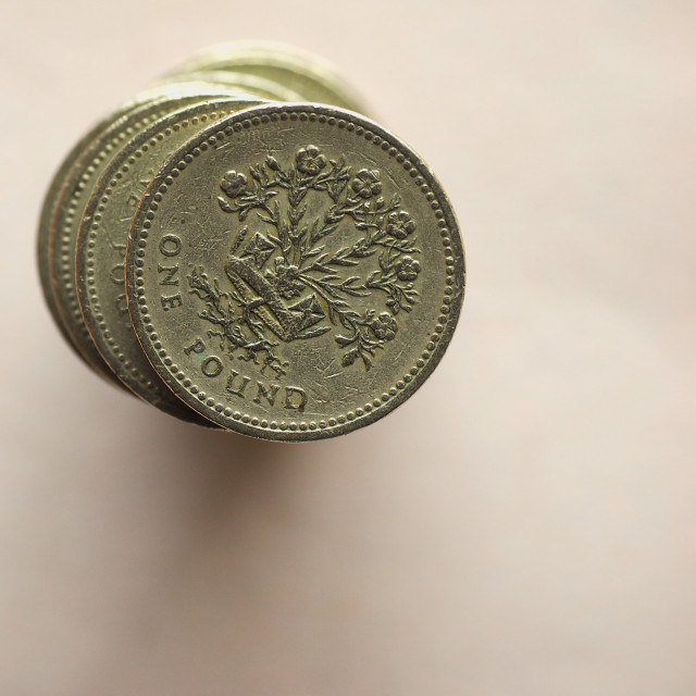 """""""GBP Pound coins"""" stock image"""