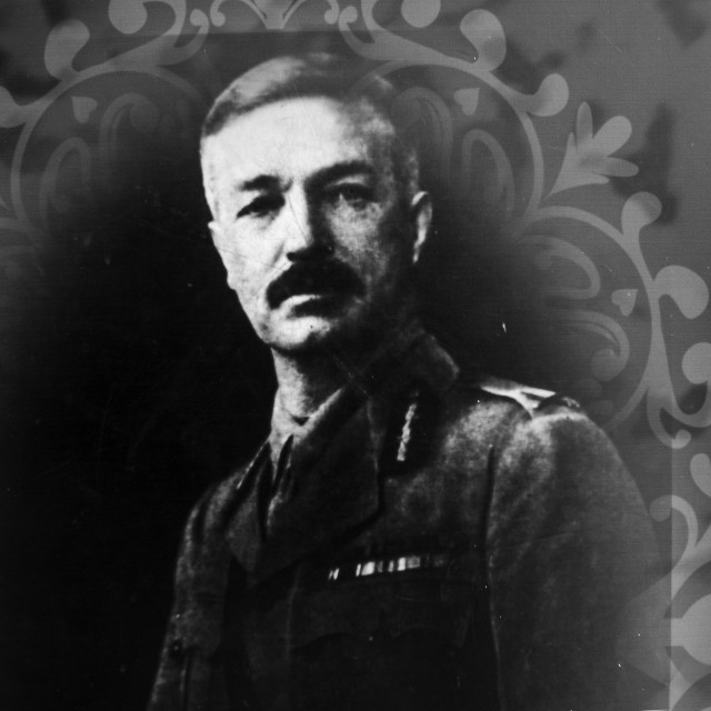 """""""Photograph of General R.E.H. Dyer as displayed in museum of Jallianwala Bagh Amritsar, Punjab, India"""" stock image"""